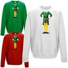 Elf Body Sweatshirt - Cute Christmas Humour Funny Buddy Festive Gift Jumper Top