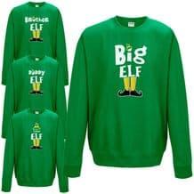 Elf Family Sweatshirt - Funny Cute Christmas Pyjama PJ's Idea Gift Jumper Top