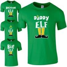 Elf Family T-Shirt - Funny Cute Christmas Pyjama PJ's Idea Gift Kids Mens Top