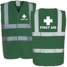 First Aid Hi Viz Green Vest