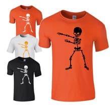 Flossing Skeleton Kids T-shirt - Halloween  Scary Kids Costume Fancy Dress Top