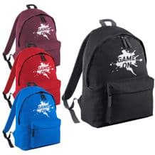 Game On Splatter Backpack - Gamer Fun Kids  Back to School Gaming Splat Rucksack