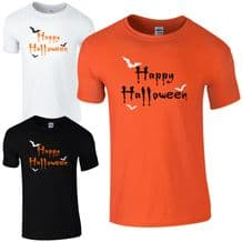 Happy Halloween Freaky Bats T-Shirt - Funny Fancy Dress Gift Kids & Mens Top