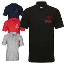 Red Arrows Diamond 9 RAF Display Team Aircraft Embroidered Polo T-shirt S - 3XL