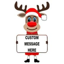 Rudolph Reindeer Custom Message