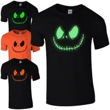 Smiling Jack T-Shirt - Spooky Scary Halloween Fancy Dress Gift Unisex Mens Top