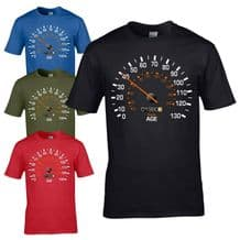 Speedometer 1980 40th Birthday T-Shirt - Funny Feels Age Year Present Mens Gift
