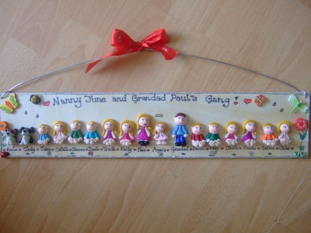 17/18 CHARACTER LARGE PERSONALISED 3d  FAMILY / TEACHER SIGN PLAQUE