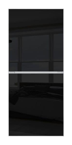 2 PANEL MINIMALIST DOOR- BLACK GLASS