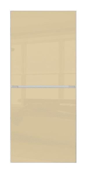 2 PANEL MINIMALIST DOOR- CREAM GLASS