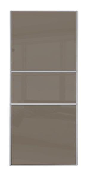 Classic Fineline, Silver frame/ Cappuccino glass door