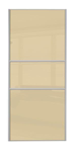 Classic Fineline, Silver frame/ Cream glass door