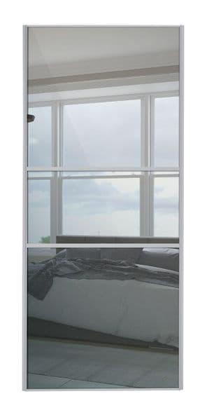 Classic Fineline, Silver frame/ Mirror door