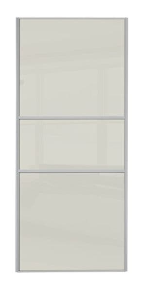 Classic Fineline, Silver frame/ Soft White glass door