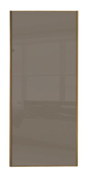 Classic Single panel, Oak frame/ Cappuccino glass panel door