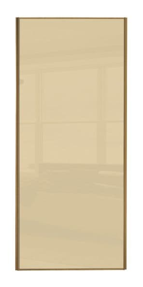 Classic Single panel, Oak frame/ Cream glass panel door