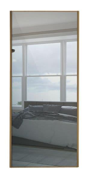 Classic Single panel, Oak frame/ Mirror door