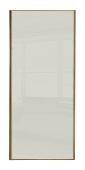Classic Single panel, Oak frame/ Soft white glass panel door