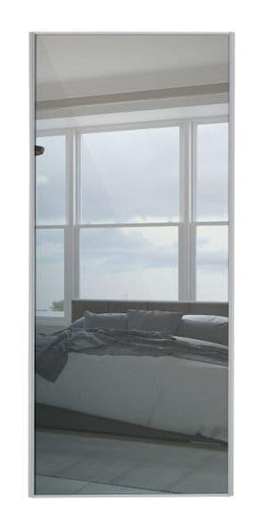 Classic Single panel, Silver frame/ Mirror panel door