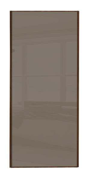 Classic Single panel, Walnut frame/ Cappuccino glass door