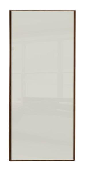 Classic Single panel, Walnut frame/ Soft white glass panel door