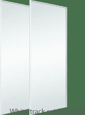 Sliding wardrobe doors | White Frame | Mirror