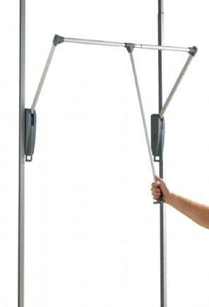 Pull down hanger bar for Aura storage system