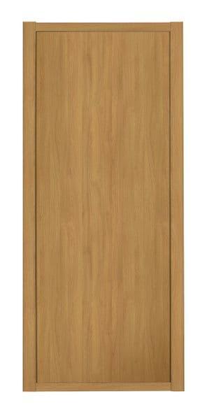 Shaker Sliding Wardrobe Door- OAK FRAME- OAK EFFECT SINGLE PANEL