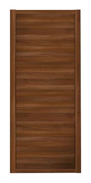 Shaker Sliding Wardrobe Door- WALNUT FRAME - 3  WALNUT PANELS
