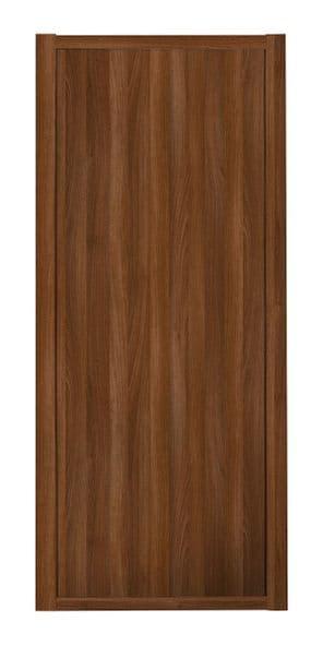 Shaker Sliding Wardrobe Door- WALNUT FRAME- WALNUT EFFECT SINGLE PANEL