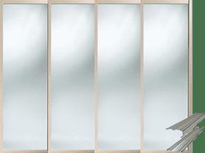 MAPLE SHAKER SLIDING WARDROBE DOOR SET