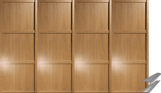 Shaker Style Oak Panel Door & Track Set to suit an opening width of 2387mm