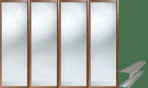 WALNUT AND MIRROR SLIDING DOORS