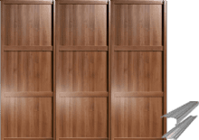 SHAKER WALNUT EFFECT PANEL SLIDING WARDROBE DOOR SYSTEM