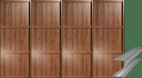 SHAKER WALNUT PANEL SLIDING WARDROBE DOORS