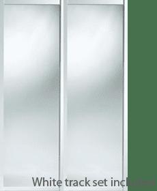 Shaker style white framed mirror wardrobe kits
