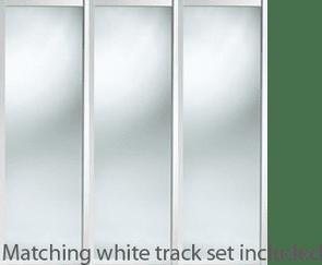 PLAIN WHITE SHAKER WARDROBE DOORS