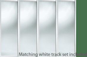 WHITE FRAMED MIRROR SLIDING WARDROBE DOOR SET