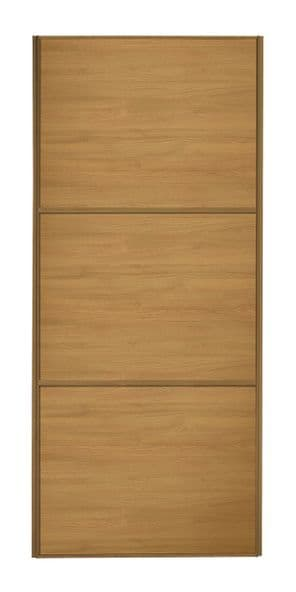 Wideline sliding wardrobe door, Oak frame, Oak-Oak-Oak